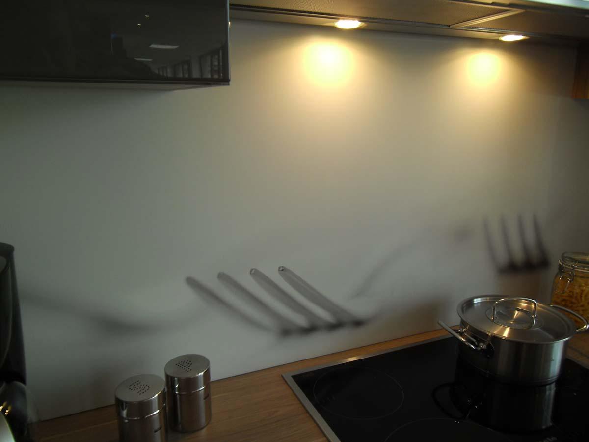 Küche 6 - Nischenrückwand Kunststoff mit Dekor