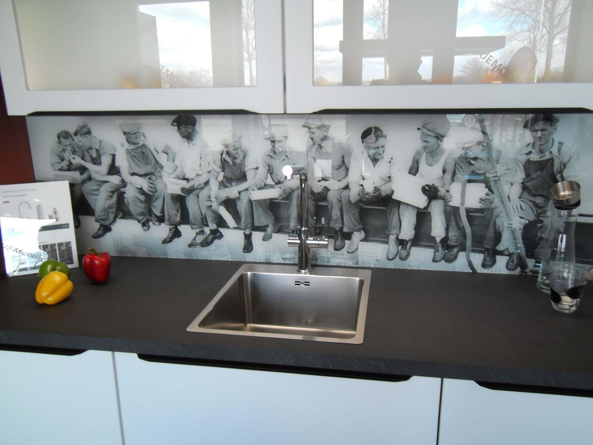Glas-Nischenrückwand mit Digitaldruck