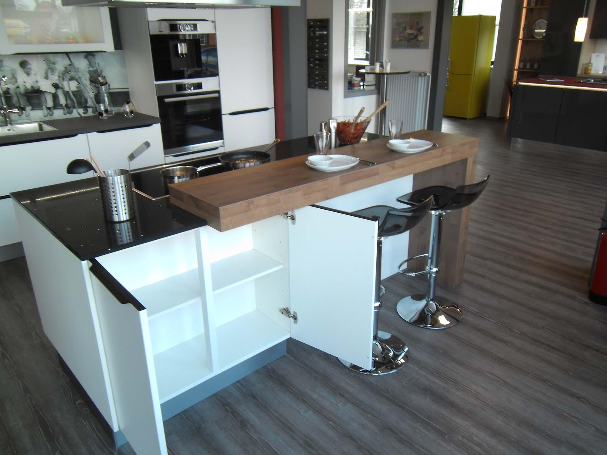 Insel mit rückseitigem Schrank und angesetzter Theke 2/2 - Küche ...