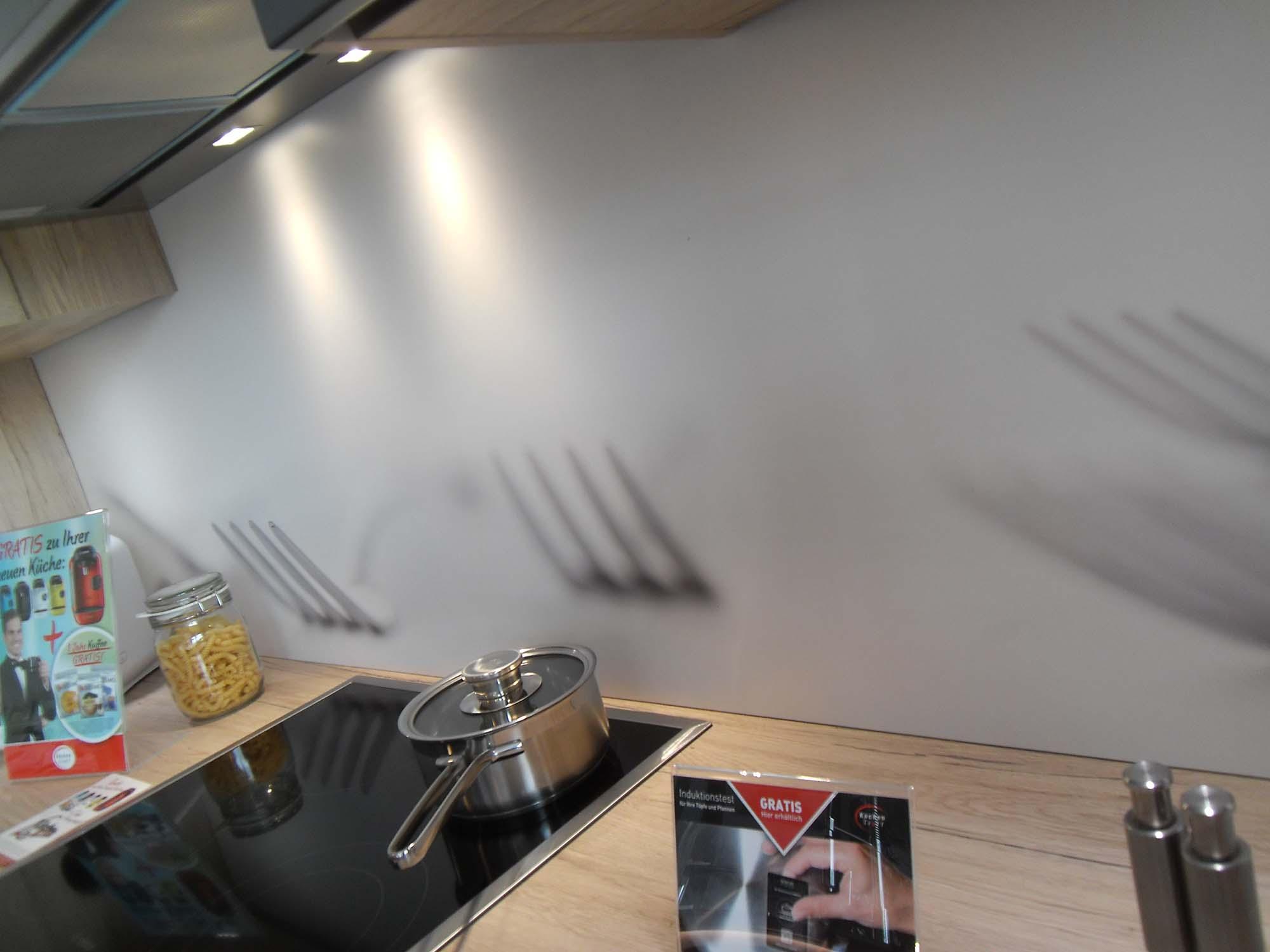 Nischenplatte Kunststoff mit dekorativem Motiv - Küche Life Style