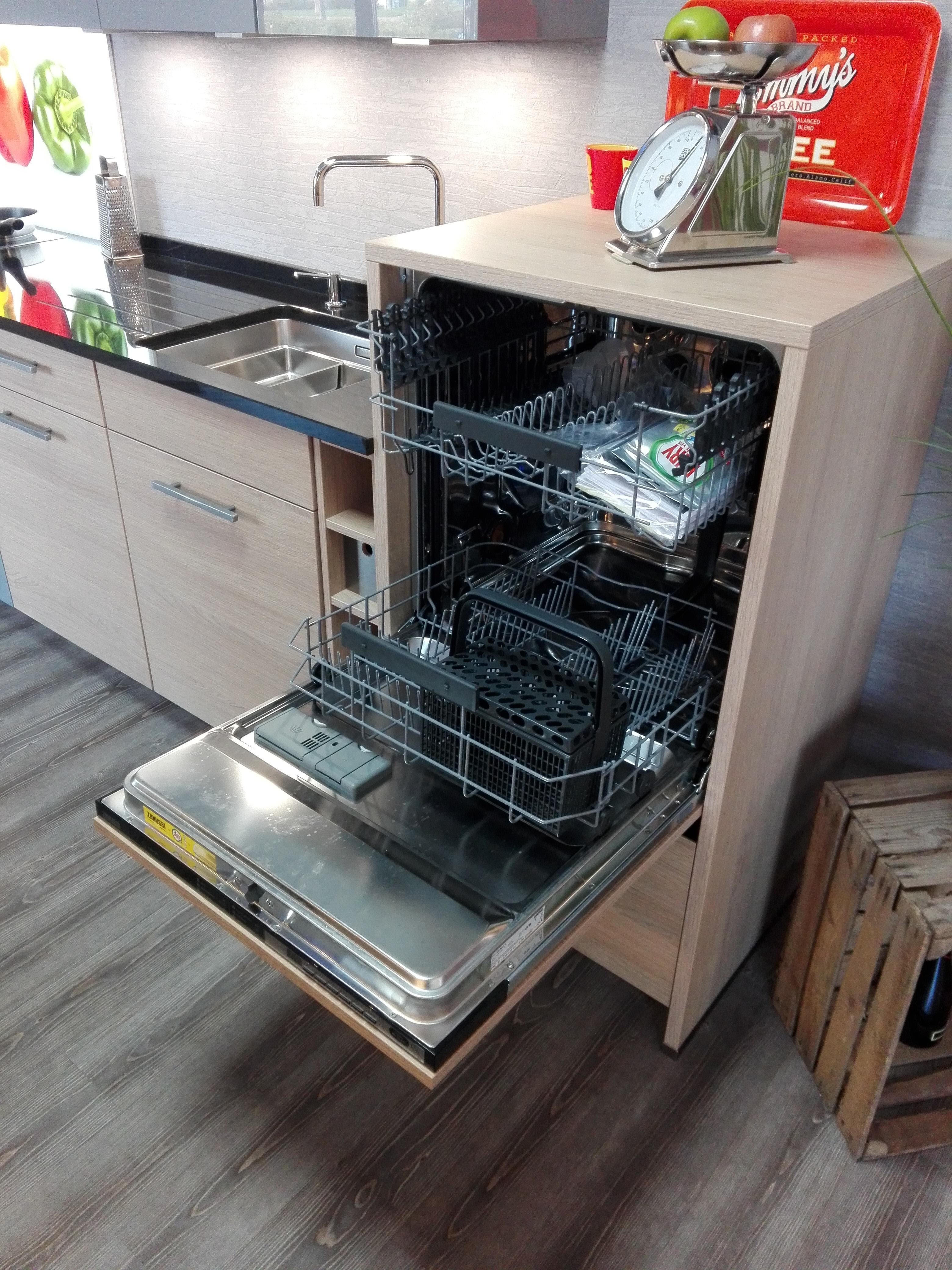 Küche 3 - ergonomisch hochgebauter Geschirrspüler